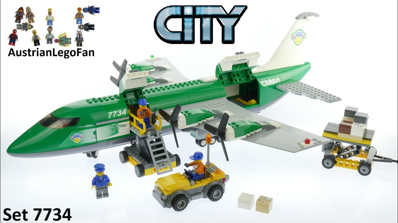 Lego City 7734 Cargo Plane Lego Speed Build Review Youtube
