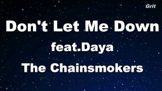 Don't Let Me Down - The Chainsmokers Karaoke 【With Guide Melody】 Instrumental