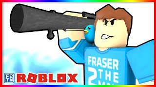 Blasting the Robloxian's off their Bloxs in Roblox Coalesce