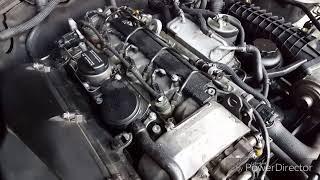 probleme très connue chez Mercedes-benz, fuite  joint d'injecteur