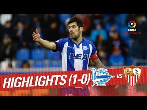 Resumen de Deportivo Alavés vs Sevilla FC (1-0)