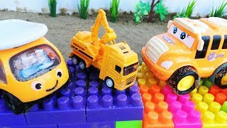 Vehicles Toys for Kids Car Story || Crane Truck Rescue Tayo Bus Toys Mcqueen Disney Cars for Kids