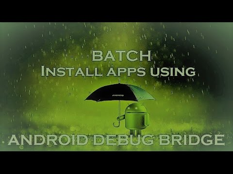 How to batch install multiple apps using ADB