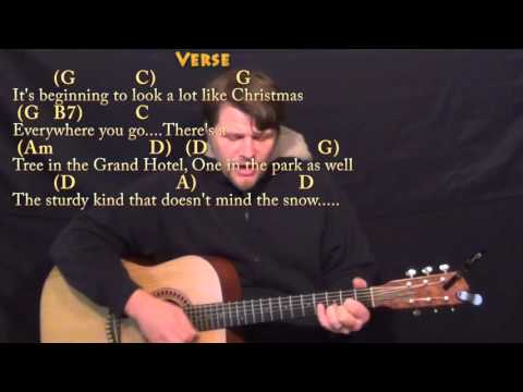It's Beginning to Look A Lot Like Christmas - Strum Guitar Cover Lesson in G with Chords/Lyrics