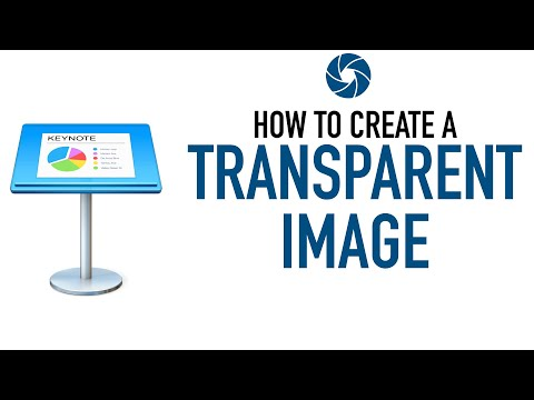 How To Create a Transparent Image Using Keynote (Mac Version)
