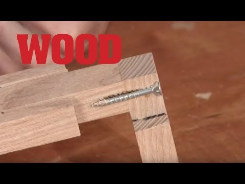 How To Make A Screw Joint - WOOD magazine