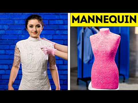 DIY MANNEQUIN || DOLLAR STORE GYPSUM AND CEMENT DIYs THAT MIGHT BE USEFUL