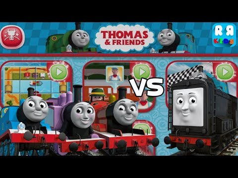 Thomas & Friends - Budge World Games - Thomas, James and Rosie vs Diesel