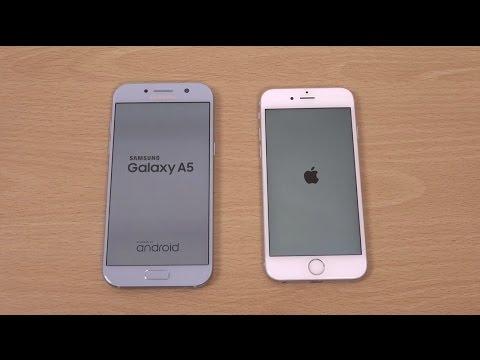 Samsung Galaxy A5 2017 vs iPhone 6S - Speed Test!