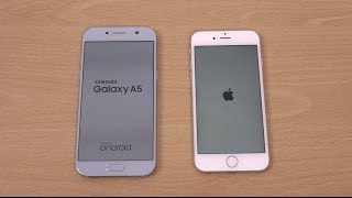 Samsung Galaxy A5 2017 vs iPhone 6S - Speed Test!