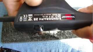 Машинка граверная SIGNOGRAPH 25 SET в подключении через диод. Видео обзор 03.11.2012.