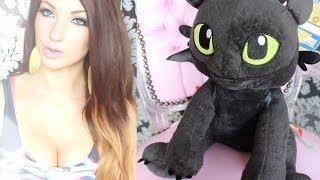 "Build-A-Bear ""Toothless"" (How To Train Your Dragon) Plush - Jemma Pixie Hixon"