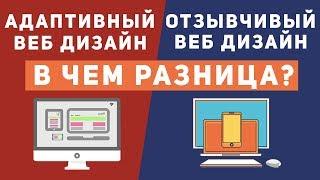 Уроки CSS: В чем разница адаптивный и отзывчивый дизайн сайта