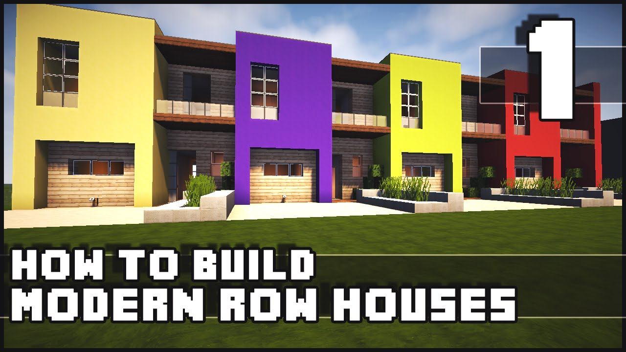 Minecraft House How to Build Modern Row Houses Part 1 YouTube