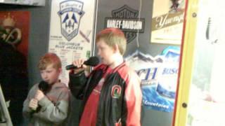 skylar & Hayden singing Cult of Personality in karaoke