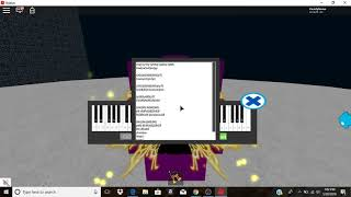 How to play Say Something on the roblox/vertual piano!