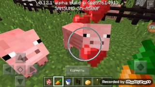 Minecraft p e как кормить животных