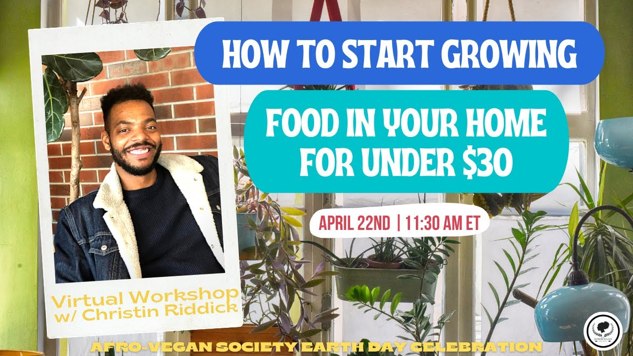 How to Start Growing Food in Your Home for Under $30 | Afro-Vegan Society Earth Day Celebration
