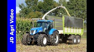 Maishakselen 2019   Claas Jaguar 860 + New Holland T7050   van Lankvelt Veghel   Harvesting maize