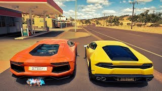 Racha de Lamborghini Aventador VS Lamborghini Huracan - Forza Horizon 3 Online ‹ ZoiooGamer ›
