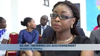 Francophonie : échanges entre Michaëlle Jean et les membres du gouvernement