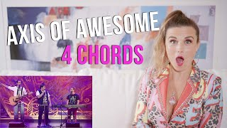 Vocal Coach Reacts to Axis of Awesome - 4 Chord song YouTube Videos