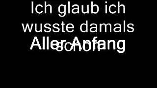 Mike Krüger - Aller Anfang ist schwer (Lyrics)