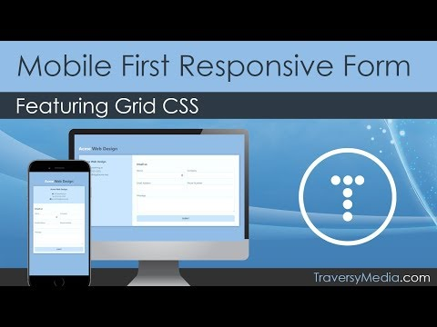 Mobile First Responsive Contact Form Featuring Grid CSS