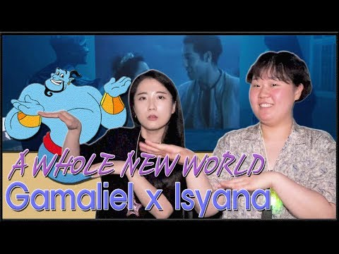 "[REAKSI] JEESUN ORANG KOREA ""Gamaliél, Isyana Sarasvati - A Whole New World""  [SUB : IDN, KOR]"