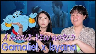 "Download [REAKSI] JEESUN ORANG KOREA ""Gamaliél, Isyana Sarasvati - A Whole New World""  [SUB : IDN, KOR]"