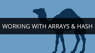 Working with Arrays & Hash | Array & Hash Tutorial | PERL Tutorial for Beginners
