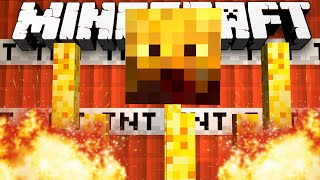 Minecraft 1.8: TNT BLAZE RUN MINI-GAME! - w/Preston, Kenny & Choco!