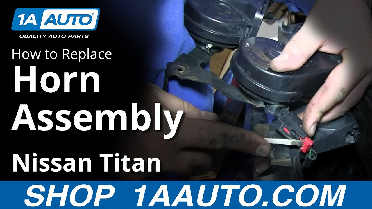 how to replace horn assembly 04-15 nissan titan