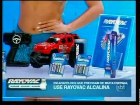 Campanha Merchandising Rayovac na TV - Celso Portioli