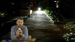 видео Велосипедная фара с тремя светодиодами