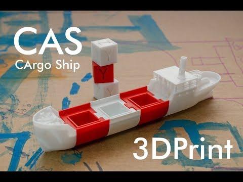 CAS - the 3d print modular xyz-cube cargo ship (bathtub boat)