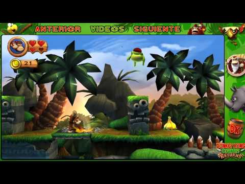 Wii l Guía l Donkey Kong Country Returns l ESPECIAL l ¡ Mundo 1 : ENTERO MAPAS + CONTRARRELOJ !