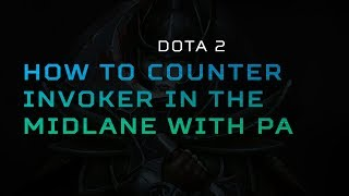 How to counter invoker in the midlane with PA  | Training Room by Predator