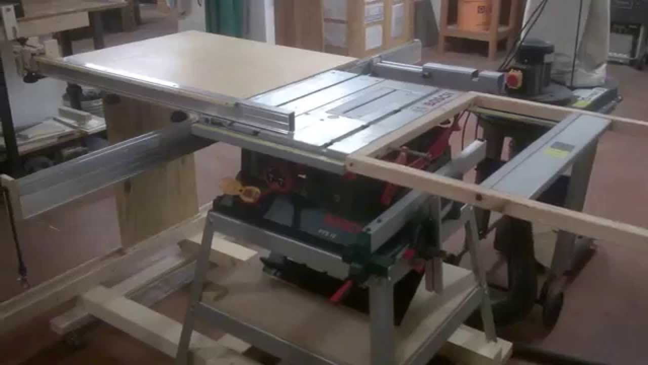 Bosch Gts 10 Xc Table Saw 테이블쏘제작 부엉이공작소 Youtube Make A Table Workbench Woodworking Workbench
