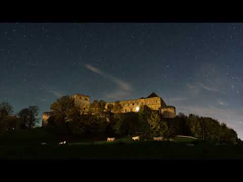 4k Living Image of an Old Castle - Ambient Sound with Relaxing Music - Screensaver