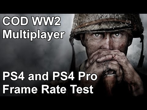 Call of Duty WW2 Multiplayer PS4 and PS4 Pro Frame Rate Test