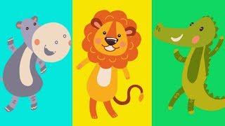 ЖИВОТНЫЕ АФРИКИ для Детей и малышей. Дикие Животные. Развивающий мультик.Обучающее видео