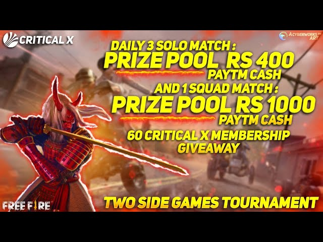 FREE FIRE SOLO TOURNAMENT    LETS SEE WHO IS SOLO KING    PAYTM CASH GIVEAWAY  BY CRITICAL X