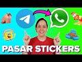 Cómo pasar STICKERS de Telegram a WhatsApp (tutorial MUY FÁCIL!)