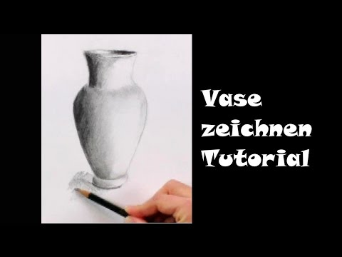 Zeichnen lernen für Anfänger: Vase mit Bleistift