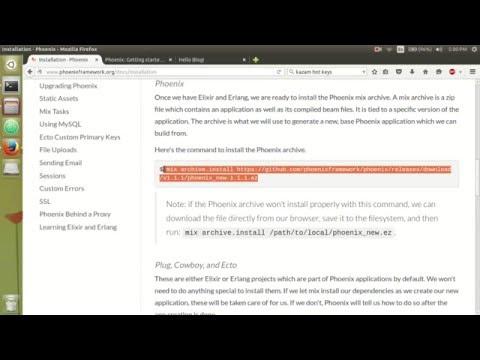 Phoenix - Create a new application