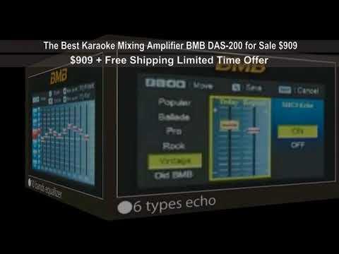 The Best Karaoke Mixing Amplifier BMB DAS 200 for Sale $909