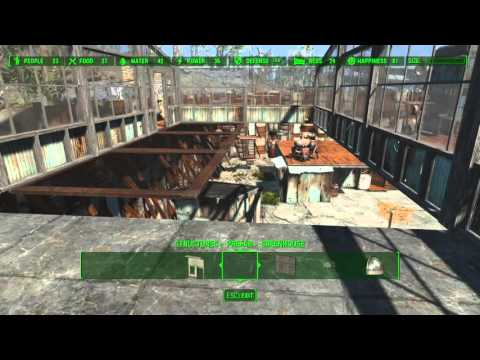 Fallout 4 - Starlight City Settlement WIP - Part 2 - The Greenhouse Build