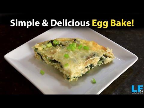 Feta Cheese & Spinach Egg Bake! - Healthy Recipe