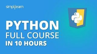 Python Tutorial | Python Tutorial For Beginners - Full Course | Python Programming | Simplilearn